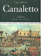 CANALETTO L'OPERA PITTORICA COMPLETA RIZZOLI 1968 CLASSICI DELL'ARTE 18