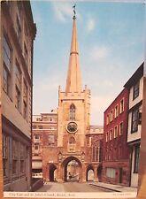 UK Postcard City Gate ST JOHN'S CHURCH BRISTOL Avon England John Hinde 2DC 685