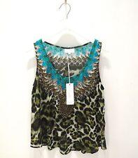 Nwt Camilla silk multi-colored with swarvoski top kaftan Minotaure size 2