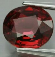 Rodolita púrpura rojo 1.55ct 7.4x6.5mm oval natural de Madagascar