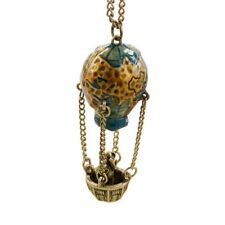 Girl Hot Air Balloon For Women Colorful Pendant Jewelry Necklace Long Chain