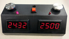 DIGITAL CHESS CLOCK - INCREMENT/DELAY- RED LED/BLACK CASE - ZMF-II - TOURNAMENT