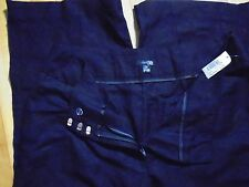 "EAST 5th Size 16W Black wide-leg Linen / Rayon pants NEW 31""L"
