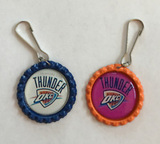 Handmade Okc Thunder Zipper Pull Set of 2