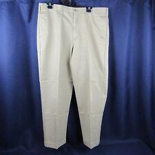 Lands End Mens Traditional Fit Pants Khaki 38W x 30L