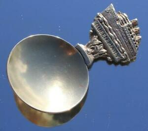 CUNARD WHITE STAR LINE RMS QUEEN MARY BOUGHT ONBOARD BRASS TEA CADDY SPOON 1936