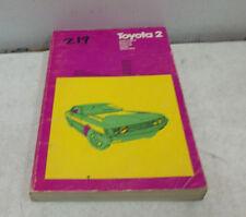 TOYOTA 2 CHILTONS REPAIR & TUNE UP GUIDE 1970-72 COROLLA CARINA CORONA MARK II