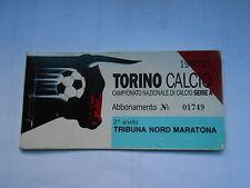 abbonamento TORINO CALCIO STAGIONE 1990-91