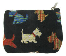 Signare Tapestry Scottish Terrier Zip Coin or Card Purse 8cm H x 11.5cm W