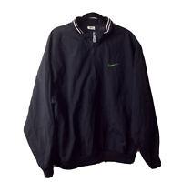 VTG Nike Swoosh Spellout Windbreaker Size XL Rare Black 1/4 Zip Pullover 90s