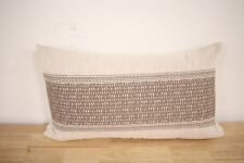 "Hotel Collection 14"" x 24"" Decorative Pillow Pebble Diamond Beige A03276"