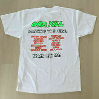 New Rare Over Kill Wrecking Your Heard Tour 1987 t shirt gildan reprint