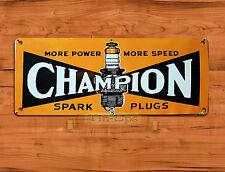 "TIN SIGN ""Champion Spark Plugs"" Garage British Rustic Wall Decor"