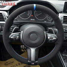 Black Suede Car Steering Wheel Cover for BMW F82 M4 M5 M6 F85 X5 M F86 X6 M F33