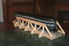"O gauge handmade 17 3/8"" wood trestle bridge for Lionel,MTH ,Williams etc."
