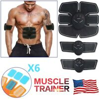 Electric Muscle Toner Machine Kit Wireless Toning Belt Simulation Abs Fat Burner