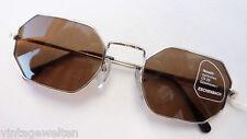 Eschenbach Metall Sonnenbrille unisex silber starke Tönung braun 100%UV  size M