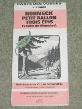 East France - IGN Vosges Mts walking map - Hohneck & Petit Ballon scale 1:25,000