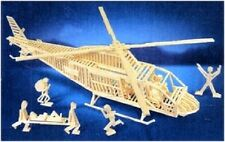 RESCUE HELICOPTER matchitecture matchstick model craft kit - NEW