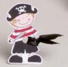 Lot de 10 étiquettes Jack le pirate+ruban mariage baptême communion