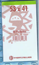 1 Blister 50 Pochettes Transparentes simple soudure 53x41