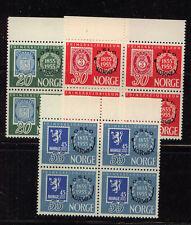Norway   340-42  Mint  NH  blocks    catalog   $180.00      KL1220