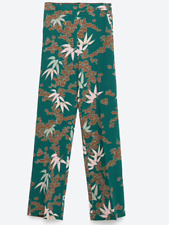 ZARA CREPE TROUSERS BNWT S, M & L green BLOGGERS FAVE