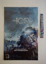 SDCC 2015 The 100 Signed Poster 11x17 With Wristband WB