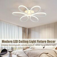 Aluminum LED Ceiling Light Dimmable Pendant Lamp Chandelier Bedroom