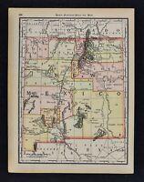 1891 McNally Map - New Mexico - Santa Fe Taos Albuquerque Los Lunas Cimarron NM