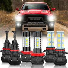 For 2016 2017 2018 Dodge RAM 1500 2500 3500 6X LED Faro alto-bajo+luz antiniebla