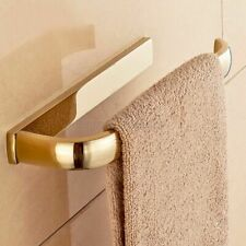 Polished Brass Gold Wall Mounted Square Bathroom Bath Hand Towel Ring Holder