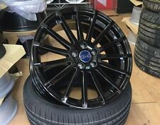 """18"""" Gloss Black Ford RS Style alloy wheels & 225/40/18 tyres"""