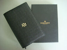Roger Dubuis Black Leather Notebook Passport Holder Wallet New & Boxed