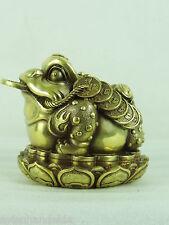 A2253 China Jinchan Frosch Figur Fengshui Glück Reichtum Schutz Erfolg H12B12T14
