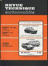 (44A)REVUE TECHNIQUE AUTOMOBILE CITROEN CX 2200D / RENAULT 16TS / PEUGEOT 204 D