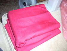 """100% SILK Fabric Material 2 pcs 4-5/8 yds Total x 39""""w Red Shantung GORGEOUS!"""