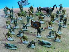 35 x Afrikakorps Rommel professionel painted (+ Flamethrower) in 1:72