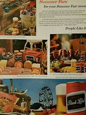 1962 Carling Black Label beer can summer fair ad