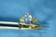 Jewelry Gold Tanzanite & Diamond Ring #19