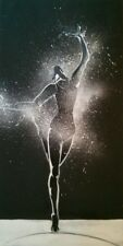 """'Dancer'24""""x12"""" - Original acrylic on canvas painting - signed"""