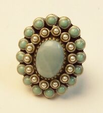 Sweet Romance OLLIPOP Faux Turquoise & Pearl Ring