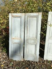 Vtg Pair 1800's Old Wooden Window Shutters Architectural Salvage 52in x17in