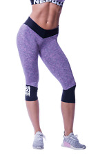 Leggings HIGH WAIST 3/4 MODEL N607 LILA NEBBIA