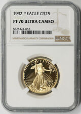 1992-P American Gold Eagle $25 Half-Ounce 1/2 oz Proof PF 70 Ultra Cameo NGC