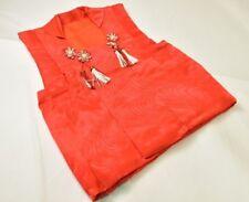 Cute Vintage Japanese Child's Red Satin Hifu/Vest/Waistcoat with Tassels