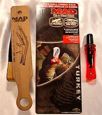 New  Mad Flambeau Turkey & Crow Call Combo Pack  MD-345K