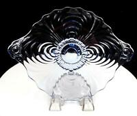 "CAMBRIDGE CAPRICE GLASS #300 MOONLIGHT BLUE 10 1/4"" FOOTED PLATE 1937-1953"
