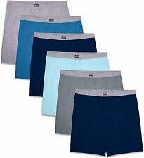 Fruit Of The Loom Mens 6 Pack Assorted Knit Boxers