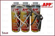 3x1,0L APP Hohlraumversiegelung Wachs Transparent + USB Pistole regulierbar F400